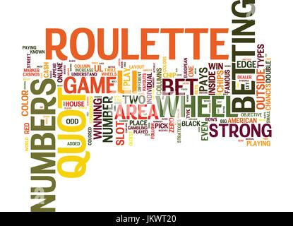 YOUR GUIDE ON HOW TO PLAY ROULETTE Text Background Word Cloud Concept - Stock Photo