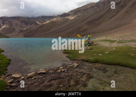 Chandra Taal Lake - Stock Photo
