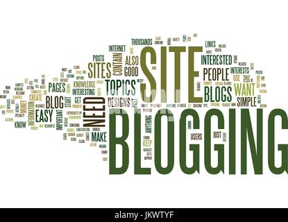 YOUR OWN BLOG Text Background Word Cloud Concept - Stock Photo