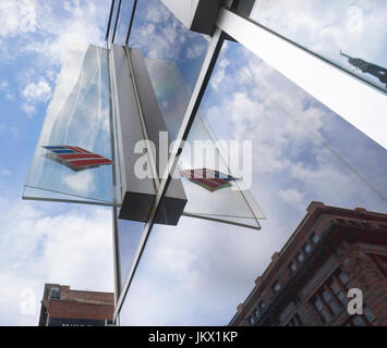 A branch of Bank of America in New York on Thursday, July 13, 2017. Bank of America is expected to report second - Stock Photo