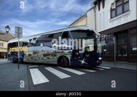 BELGRAD, SERBIA, 11 SEP 2015:Luxury bus on the streets of Belgrad, in september 11, 2015 - Stock Photo
