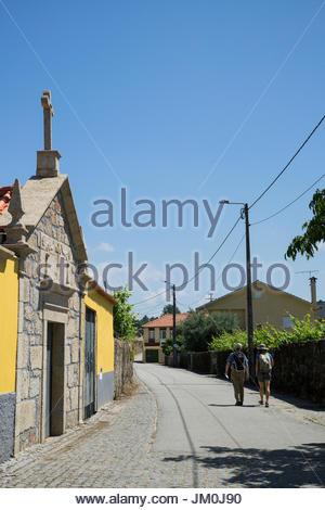 Walking The Camino Portugues (Portugese Way), Vitorino dos Piães, Portugal - Stock Photo