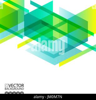 Geometric hologram trendy illustration background, placard, geometric style flat and 3d design elements. Retro art - Stock Photo