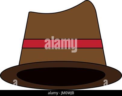 brown hat cartoon  - Stock Photo