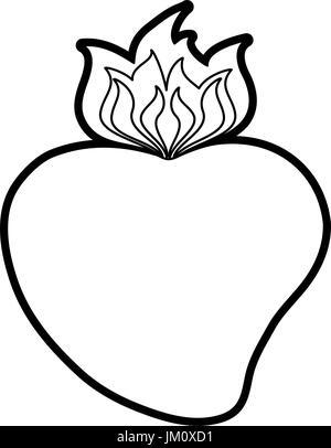 sacred hearth of jesus icon - Stock Photo