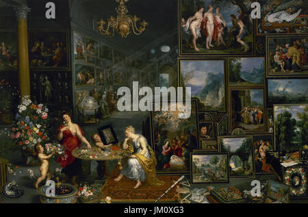 Jan Brueghel the Elder (1568-1625). Flemish painter.  Sight and Smell, ca.1620. Painted with collaboration of Hendrick - Stock Photo