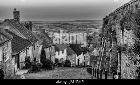 Gold Hill Shaftsbury - Stock Photo