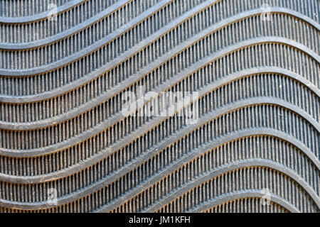 Abstract black rubber waves background texture close up. - Stock Photo