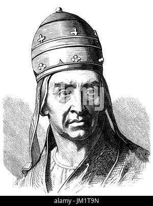 Pope Adrian IV, born Nicholas Breakspear; c. 1100 – 1 September 1159, was Pope from 4 December 1154 to his death - Stock Photo