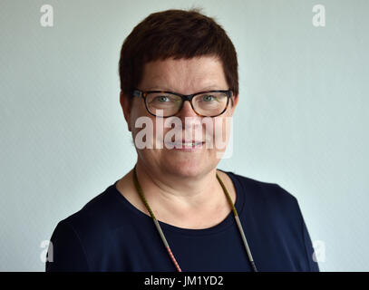 Berlin, Germany. 24th July, 2017. The editor-in-chief of the Duden publisher Kathrin Kunkel-Razum can be seen in - Stock Photo