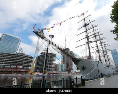 London, UK. 25th July, 2017. Peruvian tall ship Union, the world's second largest of her kind, on a visit to London, - Stock Photo