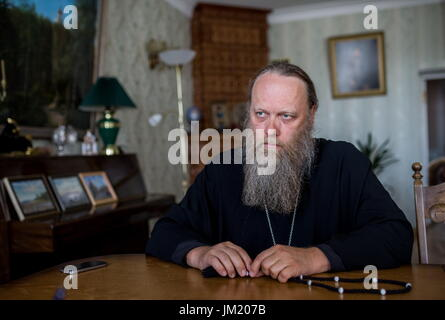 Arkhangelsk Region, Russia. 14th July, 2017. Archimandrite Porfiry (Shutov), the Father-Superior of the Solovetsky - Stock Photo