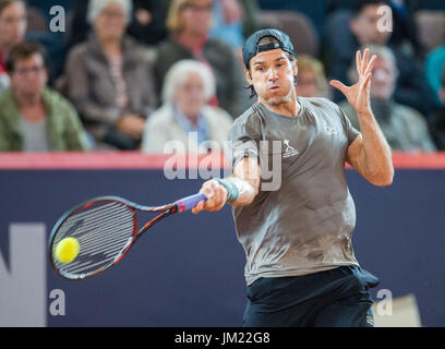 Hamburg, Germany. 25th July, 2017. Tommy Haas of Germany playing against N. Kicker of Argentina in the first round - Stock Photo