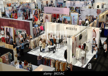 Trade Stands Olympia : Clothing stands at pure london olympia london uk. pure london