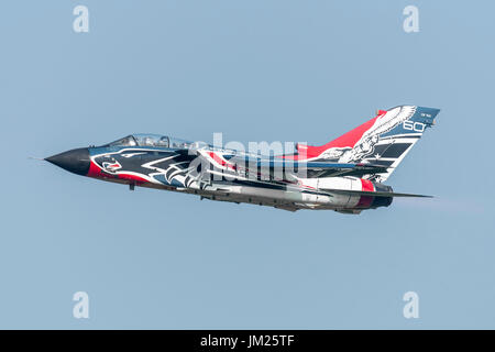 12 June 2017 Italian Air Force Panavia Tornado CSX7041 RS-01 311th Storm Reparto Sperimentale Volo, special livery - Stock Photo