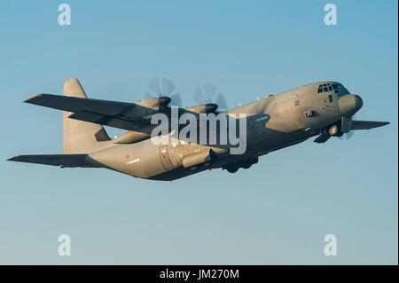 Lockheed Martin C-130 Hercules of Aeronautica Militare Italiana (Italian Air Force) of 46th Storm departed from - Stock Photo
