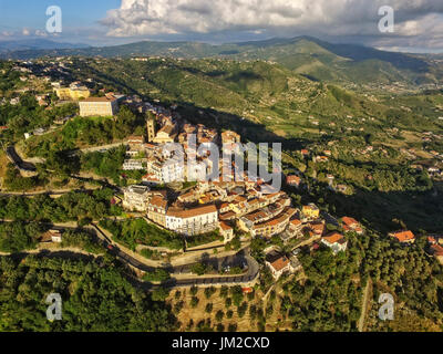 Castellabate, from the top, Cilento, Italy - Stock Photo