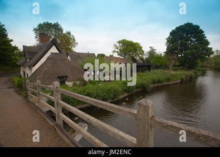 East Bergholt village, Suffolk, birthplace of painter John Constable, Babergh district, Stour Valley, Suffolk, England, - Stock Photo