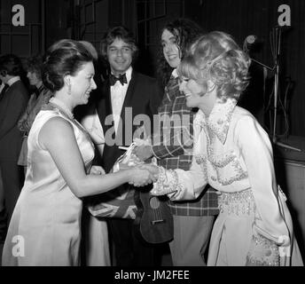 Princess Margaret, the President of the Invalid Children's Aid Association (ICAA), meets singer Dusty Springfield - Stock Photo