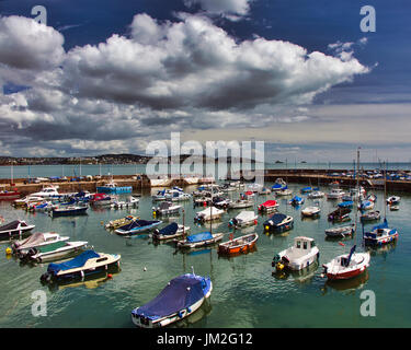 GB - DEVON: Paignton Harbour with Torbay in the background - Stock Photo