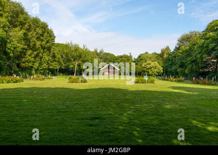 WANGEROOGE, GERMANY.  05th July 2017:  View of the rose garden park in the center of the island wangeroog, one of - Stock Photo