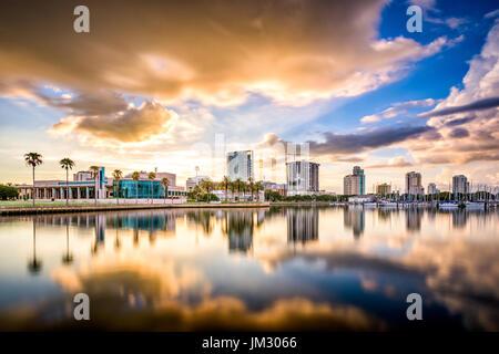 St. Petersburg, Florida, USA downtown city skyline on the bay. - Stock Photo