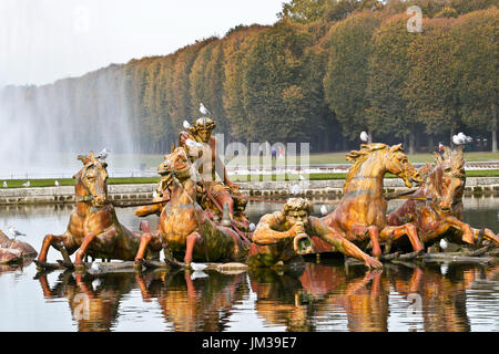Gardens of Versailles, Palace of Versailles, UNESCO World Heritage Site, Yvelines, Region Ile-de-France, Versailles.France.Apollo - Stock Photo