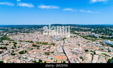 Aerial view of Aix en Provence city, Bouches du Rhone, France - Stock Photo