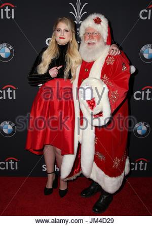 Meghan Trainor, Santa Claus. The Grove Christmas With Seth Stock ...