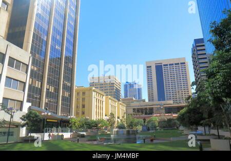 Post Office Square downtown cityscape Brisbane Australia - Stock Photo