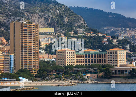 Monaco, Monte Carlo. Monaco is the second smallest and the most densely populated country in the world. - Stock Photo