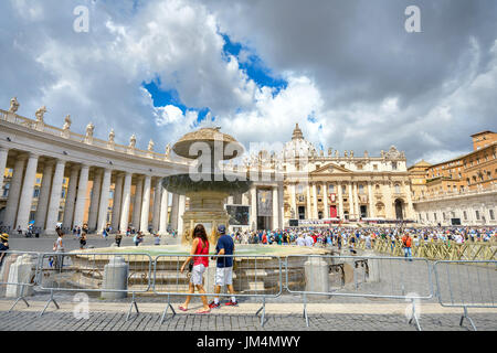 Many people celebrate and participate in a traditional solemn ceremony in feast day of St. Peter and St. Paul. Vatican, - Stock Photo