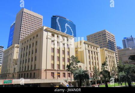 Historical architecture at Post Office Square in Brisbane Australia - Stock Photo