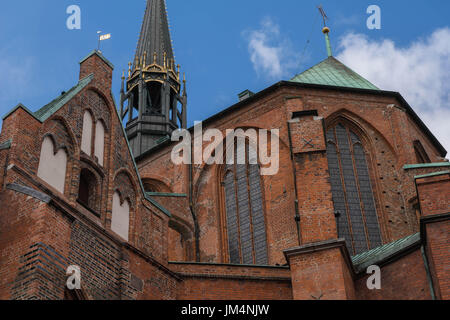 St. Mary´s Church, Hanseatic town of Lubeck, UNESCO World Heritage, Baltic Sea, Schleswig-Holstein, Germany, Europe - Stock Photo