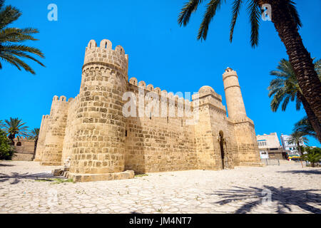 View of ancient fortress in Sousse. Tunisia, North Africa - Stock Photo