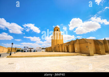 View of Great Mosque in Kairouan. Tunisia, North Africa - Stock Photo