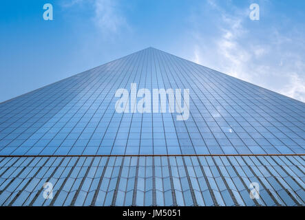 NEW YORK, USA - MAY 05, 2017: One World Trade Center, view from street level located in New York City Usa - Stock Photo