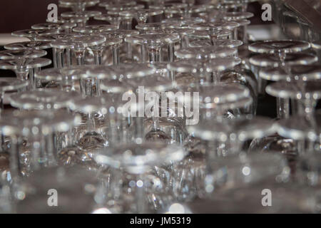 A lot of glasses in the  bar - Stock Photo