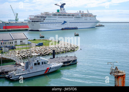 cruise ship cmv magellan docked at le havre france - Stock Photo