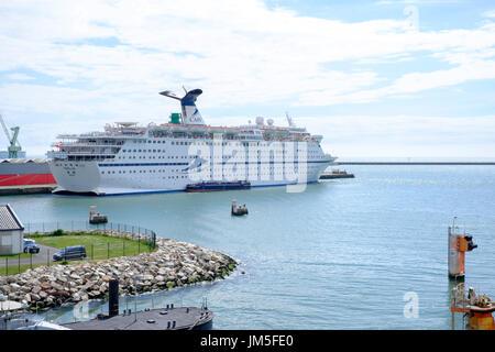 cruise ship cmv magellan docked at le havre france - Stock Photo