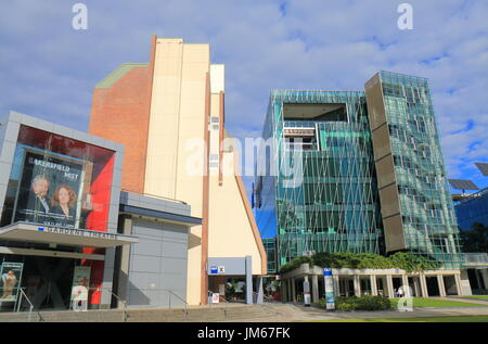 People visit QUT Queensland University of Technology in Brisbane Australia. Queensland University of Technology - Stock Photo