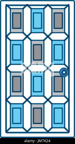 House door isolated - Stock Photo