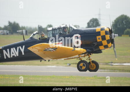 North American Aviation T-6 Texan, single-engined WW2 advanced trainer aircraft - Stock Photo