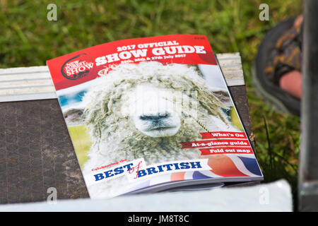 2017 official show guide for the New Forest & Hampshire Country Show, Brockenhurst, Hampshire. - Stock Photo