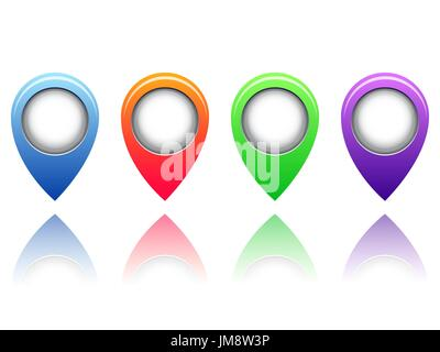 colorful vector stickers on white background. 10eps - Stock Photo