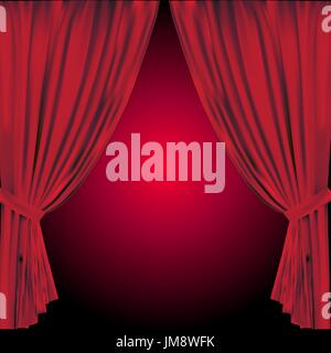 theatre curtain. vector illustration. 10eps. vector illustration - Stock Photo