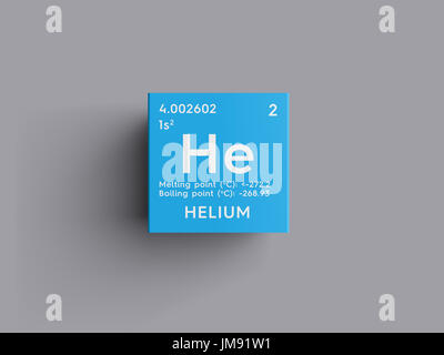 Helium he chemical element periodic table 3d render stock photo chemical element of mendeleevs periodic table helium in square cube urtaz Images