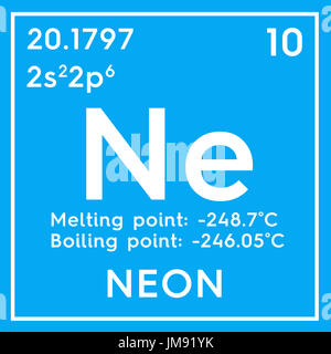 Neon noble gases chemical element of mendeleevs periodic table chemical element of mendeleevs periodic table neon in square cube urtaz Choice Image