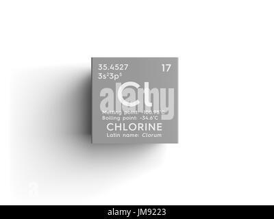 Chlorine clorum halogens chemical element of mendeleevs periodic chlorine clorum halogens chemical element of mendeleevs periodic table chlorine in square urtaz Images