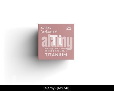 Titanium transition metals chemical element of mendeleevs titanium transition metals chemical element of mendeleevs periodic table titanium in square cube urtaz Gallery